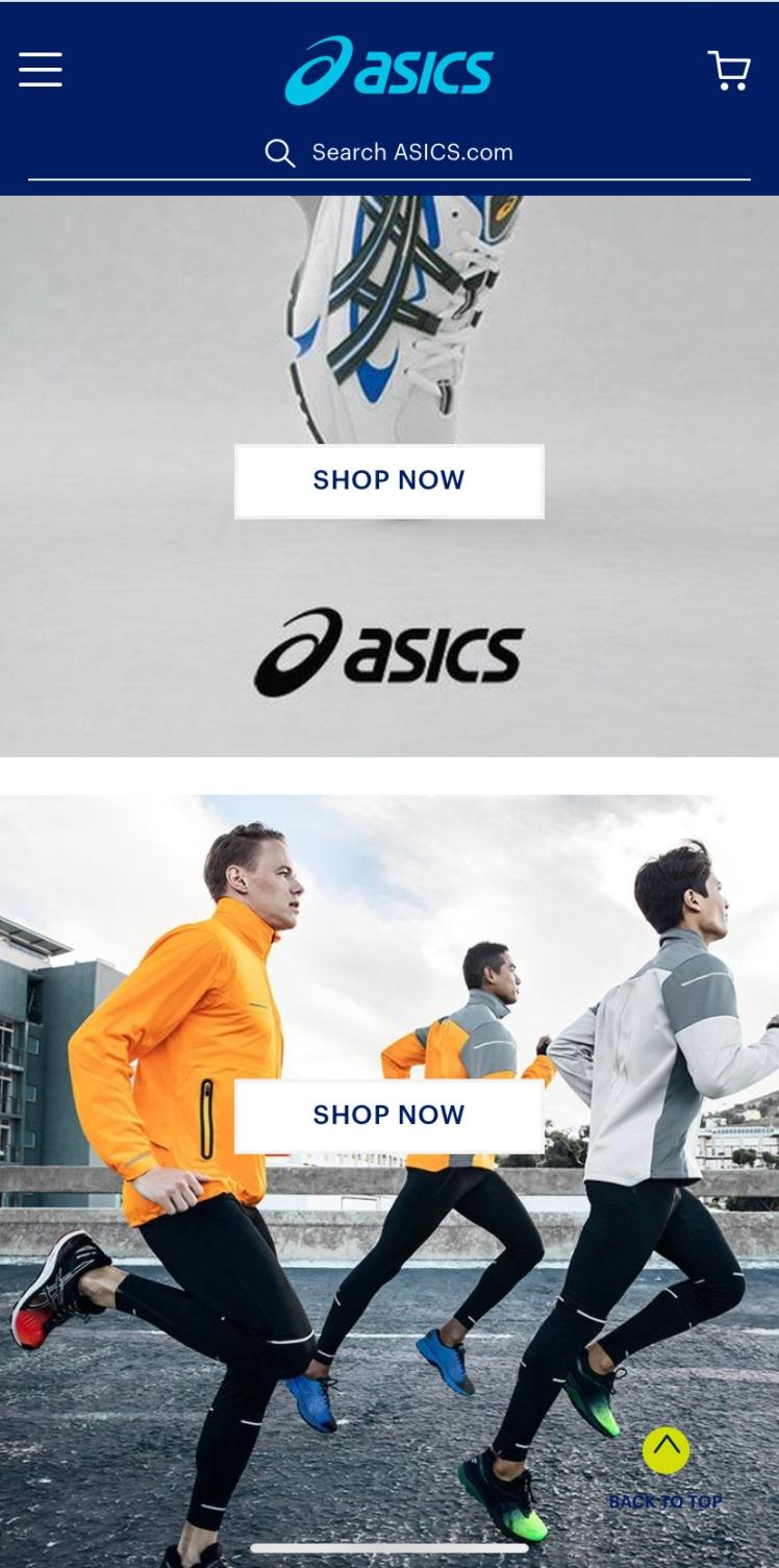 asics homepage